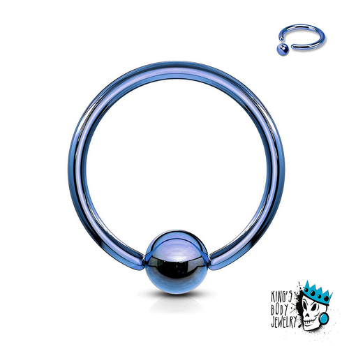 Blue Captive Bead Rings (18 g - 10 gauge)