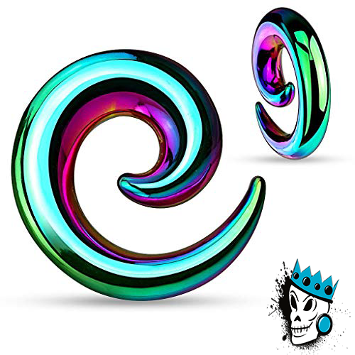 Multicolored Steel Simple Spirals