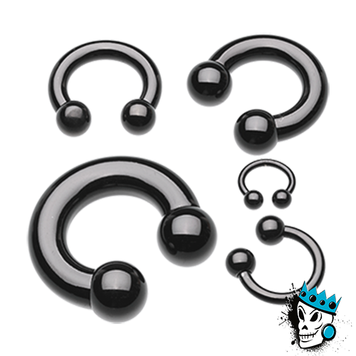 Black Steel Circular Barbells