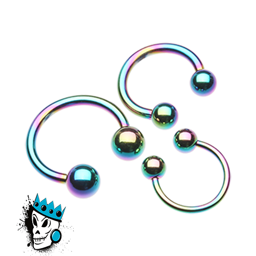 Multicolored Steel Circular Barbells