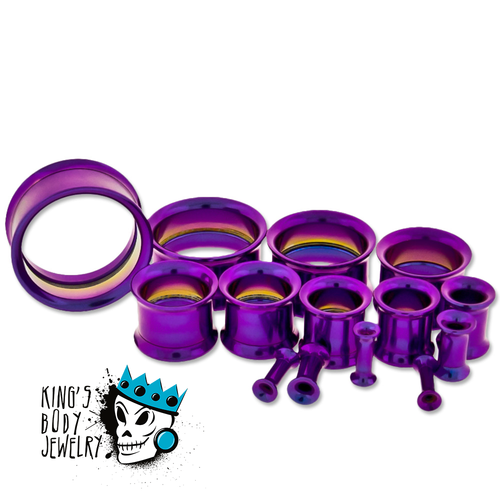 Purple Steel Internally Threaded Eyelets