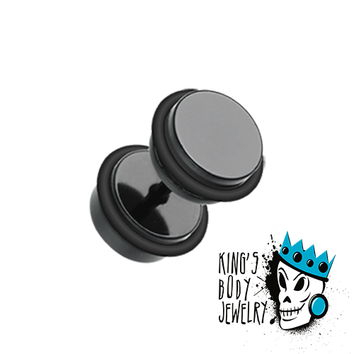 Black Fake Plugs