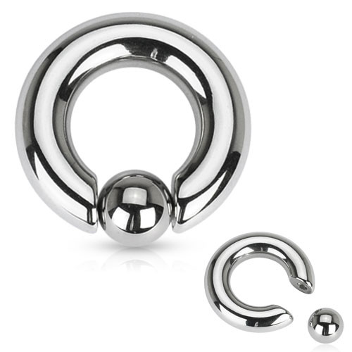 Stainless steel captive bead rings