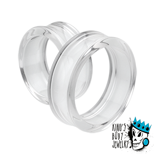 Clear Acrylic Double Flare Tunnels