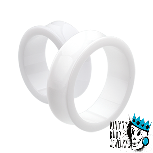 White Acrylic Double Flare Tunnels