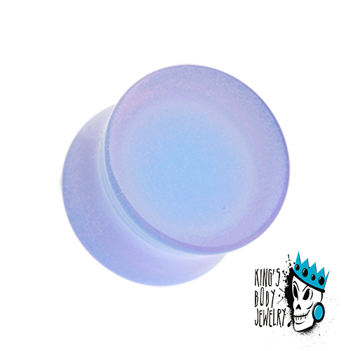 Ultra Violet Acrylic Glow in the Dark Double Flare Plugs  (8 gauge - 1 inch)