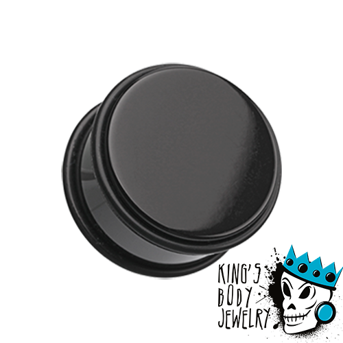 Black Acrylic No Flare Plugs