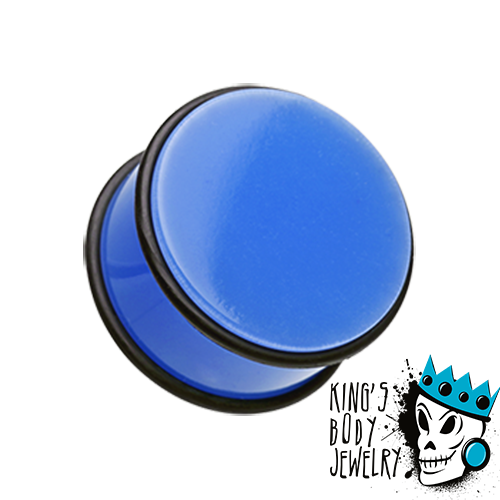 Blue Acrylic No Flare Plugs