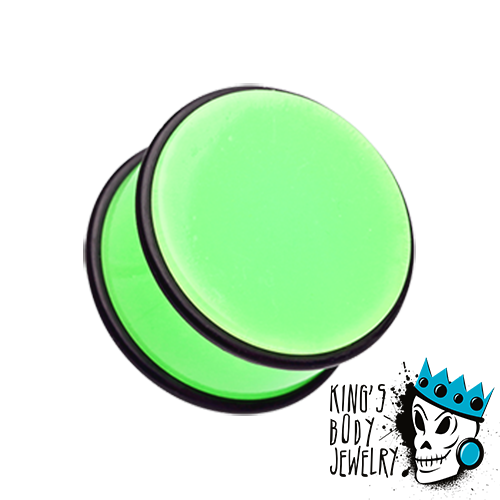 Green Acrylic No Flare Plugs