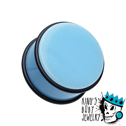 Light Blue Acrylic No Flare Plugs