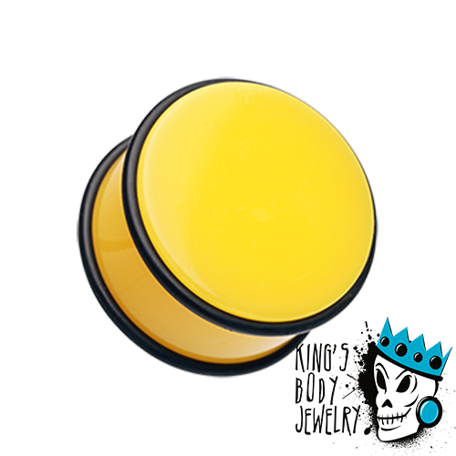 Yellow Acrylic No Flare Plugs