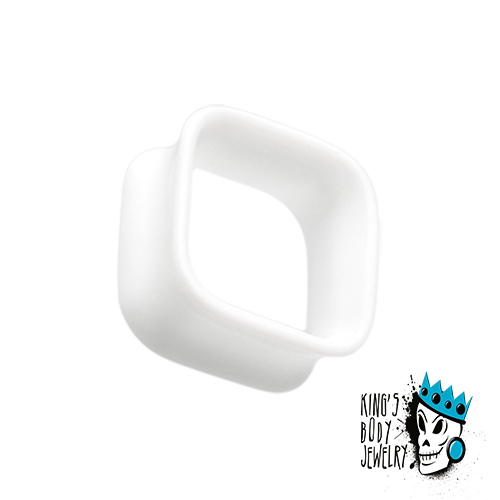 White Acrylic Square Tunnels