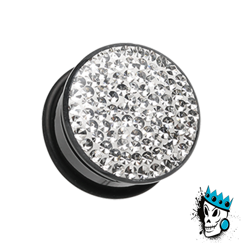 Clear Disco Ball Bling Plugs