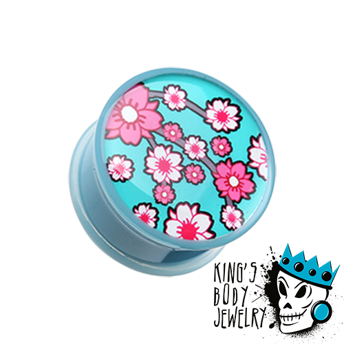 Blue Flower Blossom Plugs