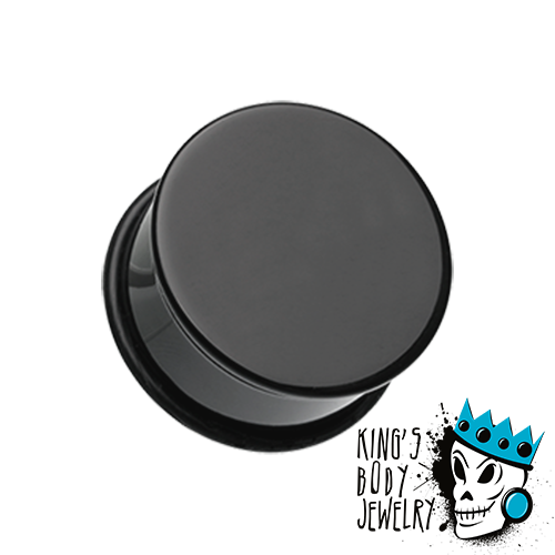 Black Acrylic Single Flare Plugs