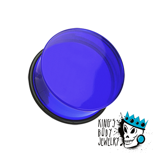 Dark Blue Acrylic Single Flare Plugs
