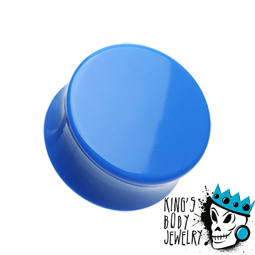 Blue Acrylic Double Flare Plugs
