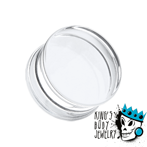 Clear Acrylic Double Flare Plugs