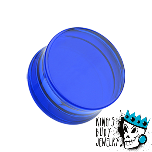 Dark Blue Acrylic Double Flare Plugs