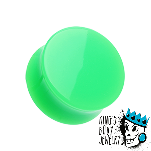 Green Acrylic Double Flare Plugs