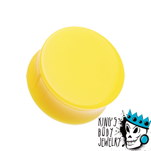 Yellow Acrylic Double Flare Plugs
