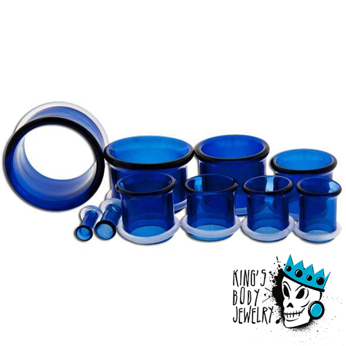 Blue Pyrex Glass Single Flare Eyelets