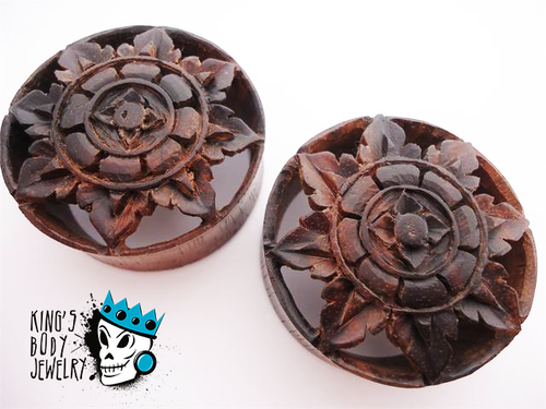 Black Areng Wood Big Flower Tunnels