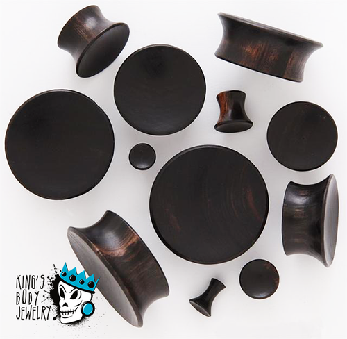 Black Areng Wood Mayan Flare Plugs