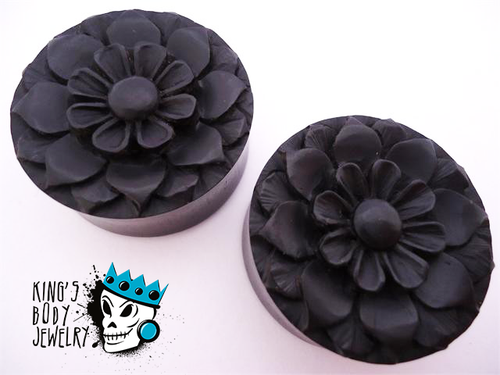 Ebony Wood Flower Plugs