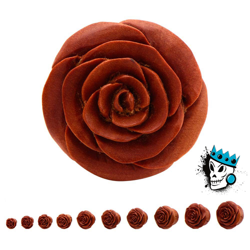Sabo Wood Rosebud Flower Plugs