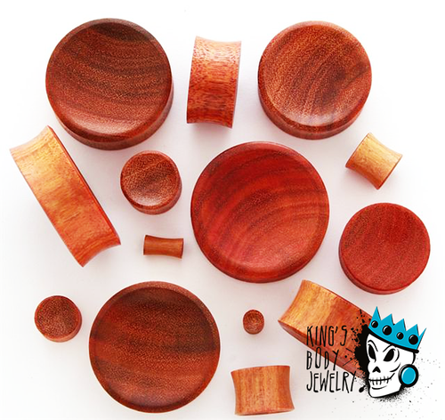 Orange Chang Wood Concave Plugs