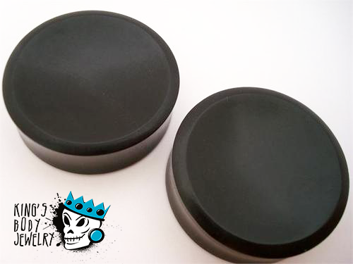 Ebony Wood Concave Plugs
