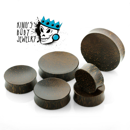 Palm Wood Concave Plugs
