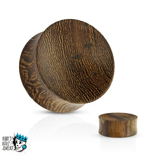 Snake Wood Concave Plugs