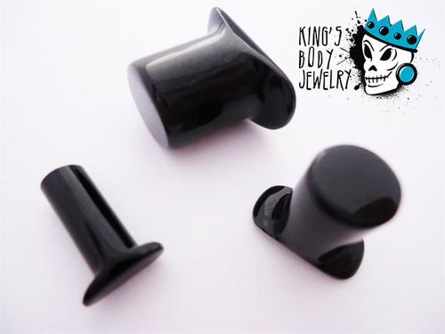 Gorilla Glass Black Labret Ring