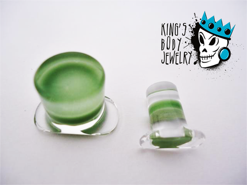 Gorilla Glass Green Labret Ring