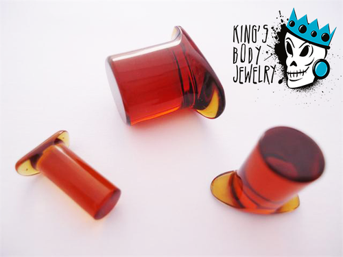 Gorilla Glass Honey Labret Ring
