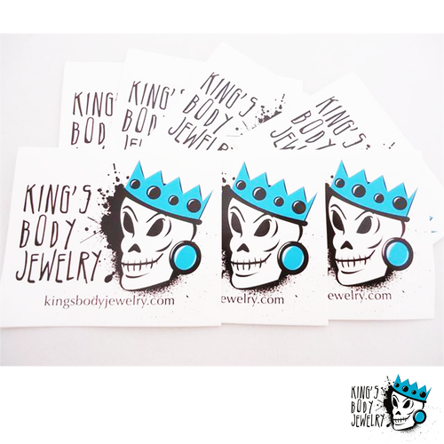 King's Body Jewelry Extra Stickers
