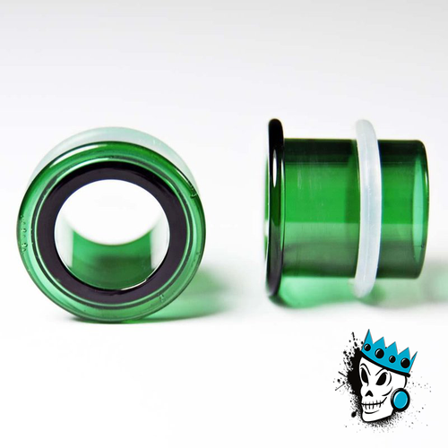 Gorilla Glass Green Single Flare Tunnels