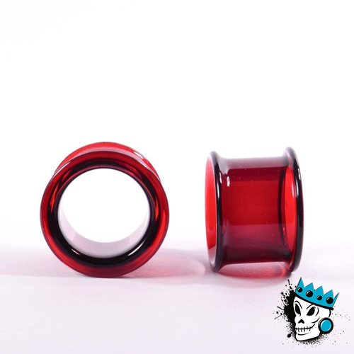Gorilla Glass Ruby Double Flare Tunnels