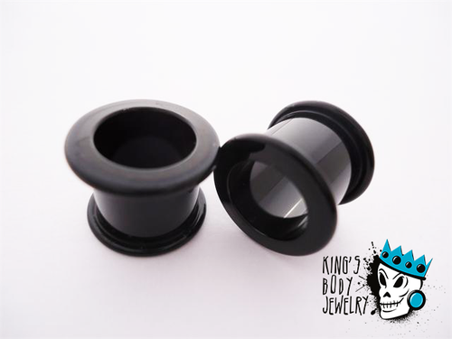 Gorilla Glass Black Double Flare Tunnels