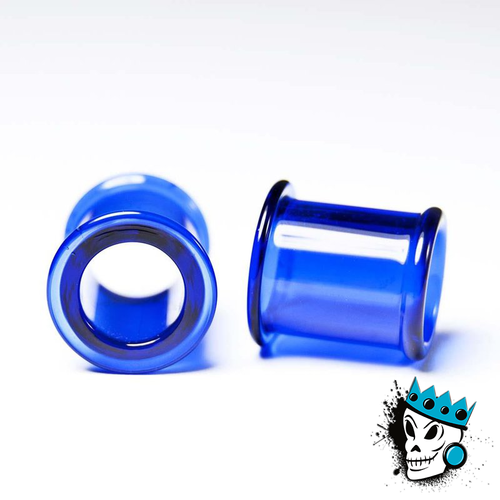 Gorilla Glass Cobalt Blue Double Flare Tunnels