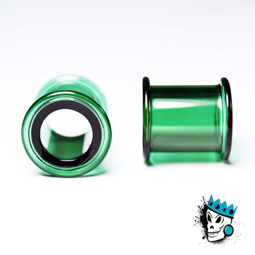 Gorilla Glass Green Double Flare Tunnels