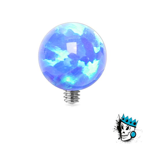 Blue Opal Ball Micro Dermal Top (14 gauge)
