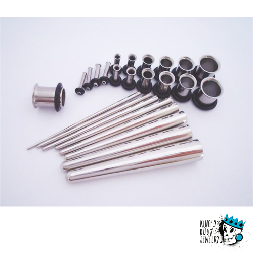 Concave Tapers & Single Flare Tunnels Full Kit (14 gauge - 0 gauge)