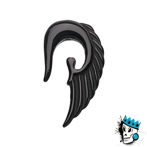 Black Acrylic Angel Wing Hooks
