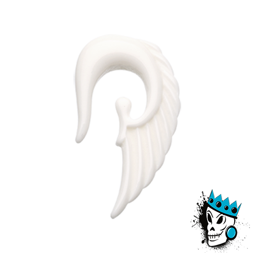 White Acrylic Angel Wing Hooks