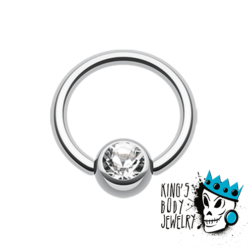 Bling captive bead rings (18g - 10 gauge)