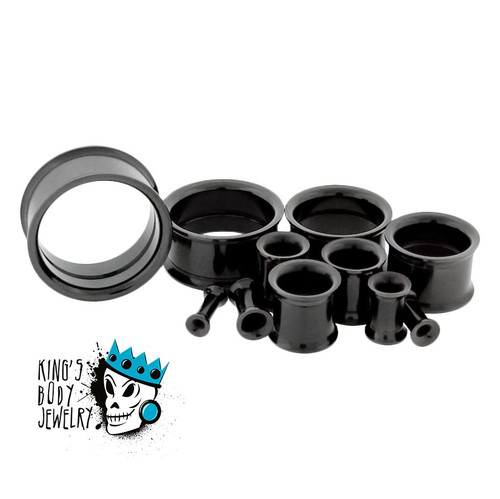 Black Steel Internal Threaded eyelets (10g - 1 inch)