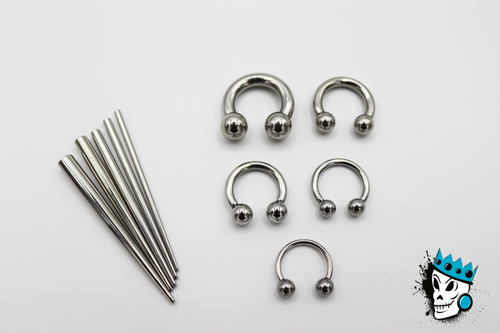Septum Circular Stretching Kit (14 gauge - 6 gauge)